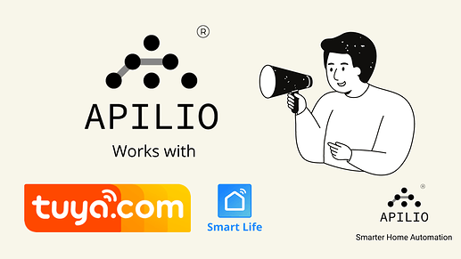 Apilio works with Tuya (Smart Life) to create conditions and actions