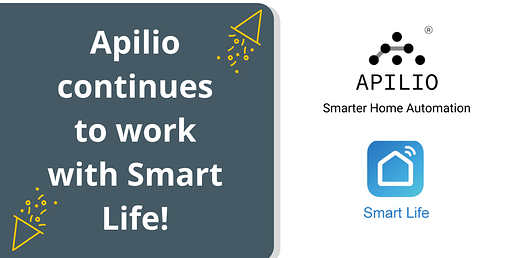 Apilio continues to work with Smart Life