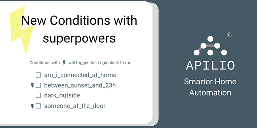 Apilio - new conditions with superpowers