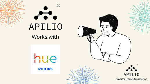 Apilio natively integrated with Philips Hue ifttt action delays
