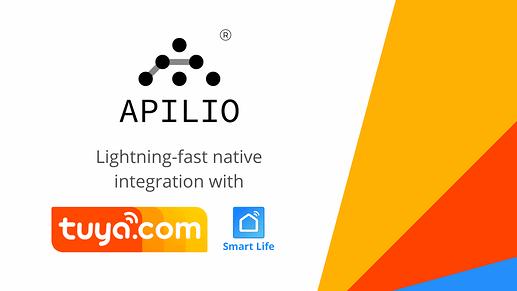 lighting fast native integration with tuya smart life and apilio
