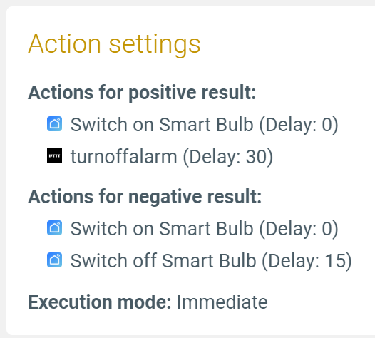 list of example actions combining multiple smart life actions with ifttt actions in apilio